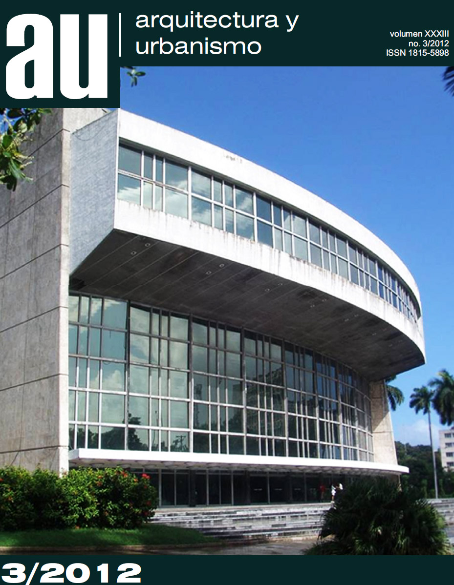 revista arquitectura y urbanismo 3 2012 arquitectura cuba