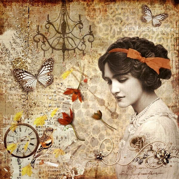 Fall Beauty Digital Collage
