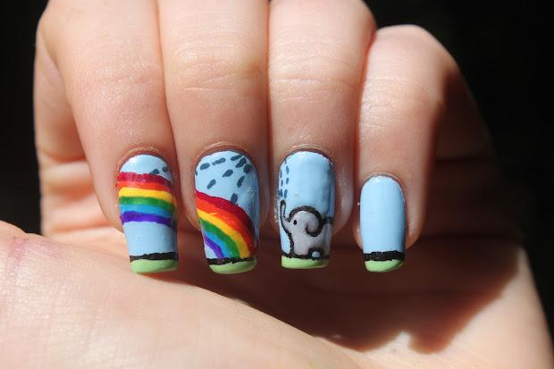 fingertips happy elephant