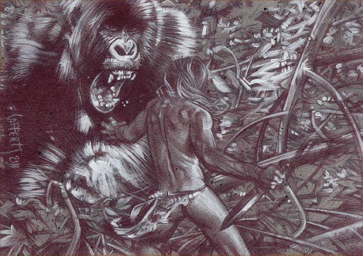 Tarzan (Pencil study) ACEO Sketch Card by Jeff Lafferty