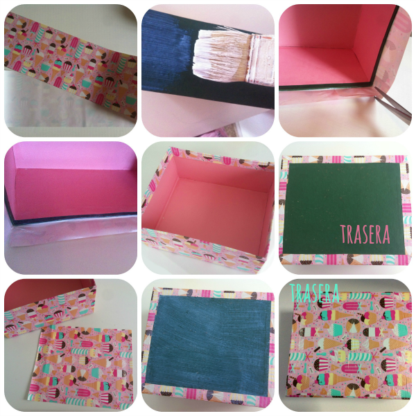 Blog en rosa candy box forrar una caja con papel for Forrar cajas de carton con tela