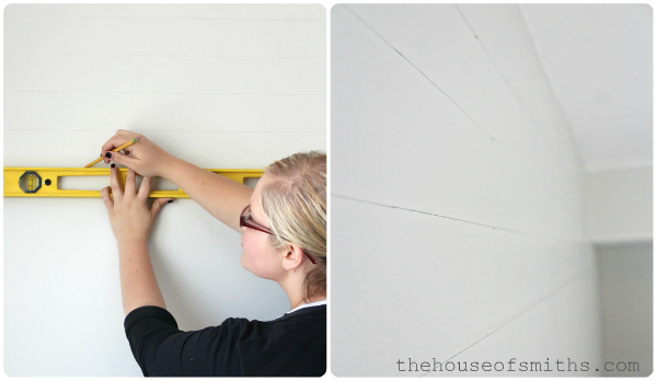 DIY Tutorial: Painting Evenly Spaced Gray Stripes on an Accent Wall