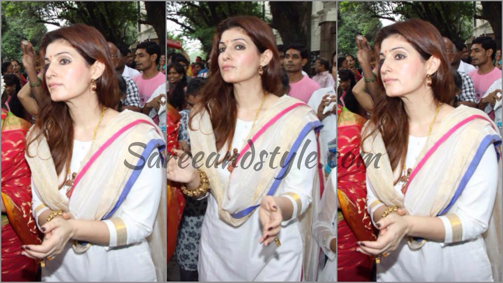 Twinkle Khanna in White Salwar - Style and Saree