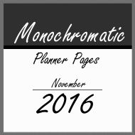 """Monochromatic"" Planner Pages"