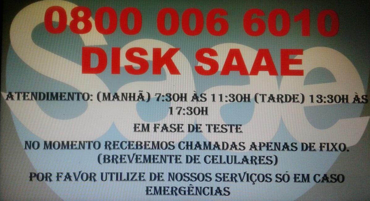 DISQUE 0800