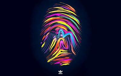 Colorful fingerprint wallpaper