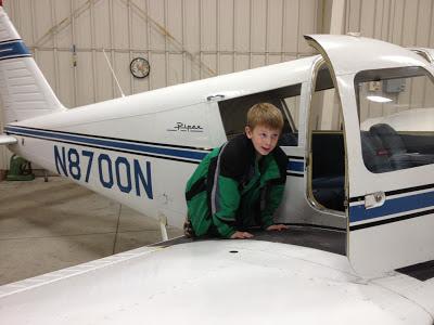 Pilot Jacob at the New Ulm Municipal Airport