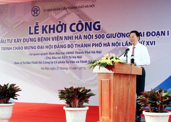 Khởi công bệnh viện nhi Hà Nội