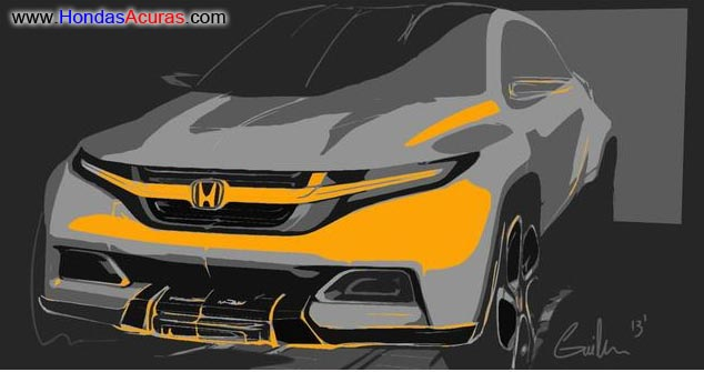 2014 2015 Honda Hrv Hr V Revival Sneak Peek Spy Pictures Civic SUV Concept Radical Uk Sketch