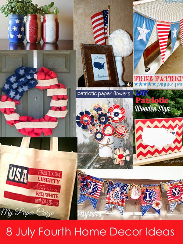 8 July Fourth Home Decor Ideas The Project Stash Link