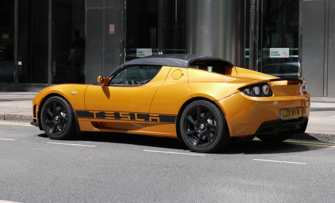Tesla Roadster from the side