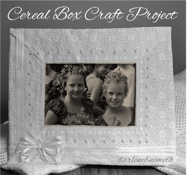 Cereal Box Picture Frame