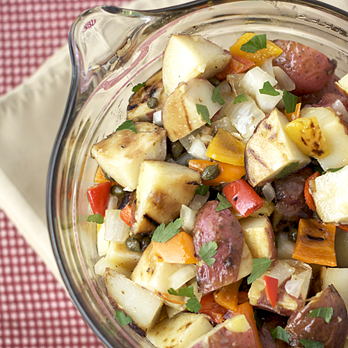 Grilled Potato Salad ~ Heat Oven to 350