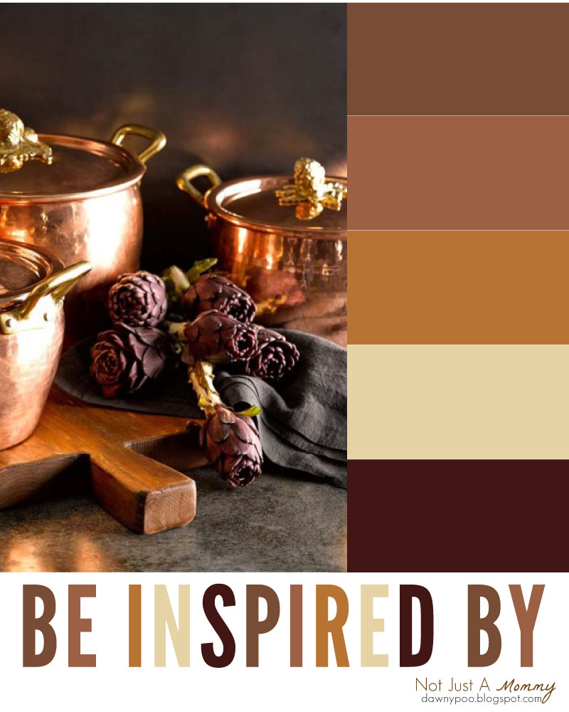 Be inspired by copper pots for your next party palette