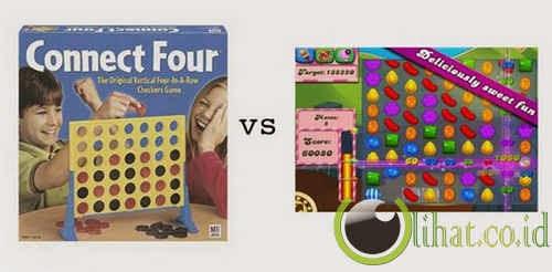 Connect Four vs Candy Crush Saga