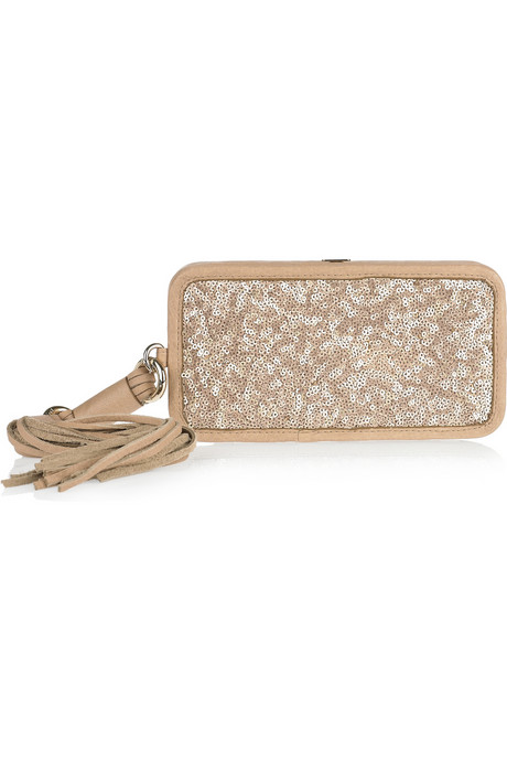 DKNY - Sequin-embellished leather wallet. Posted by lellaina at Sunday, ...