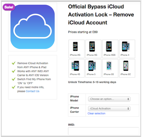 remove icloud lock for iPhone
