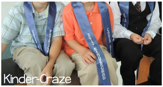custom sashes for kindergarten graduation