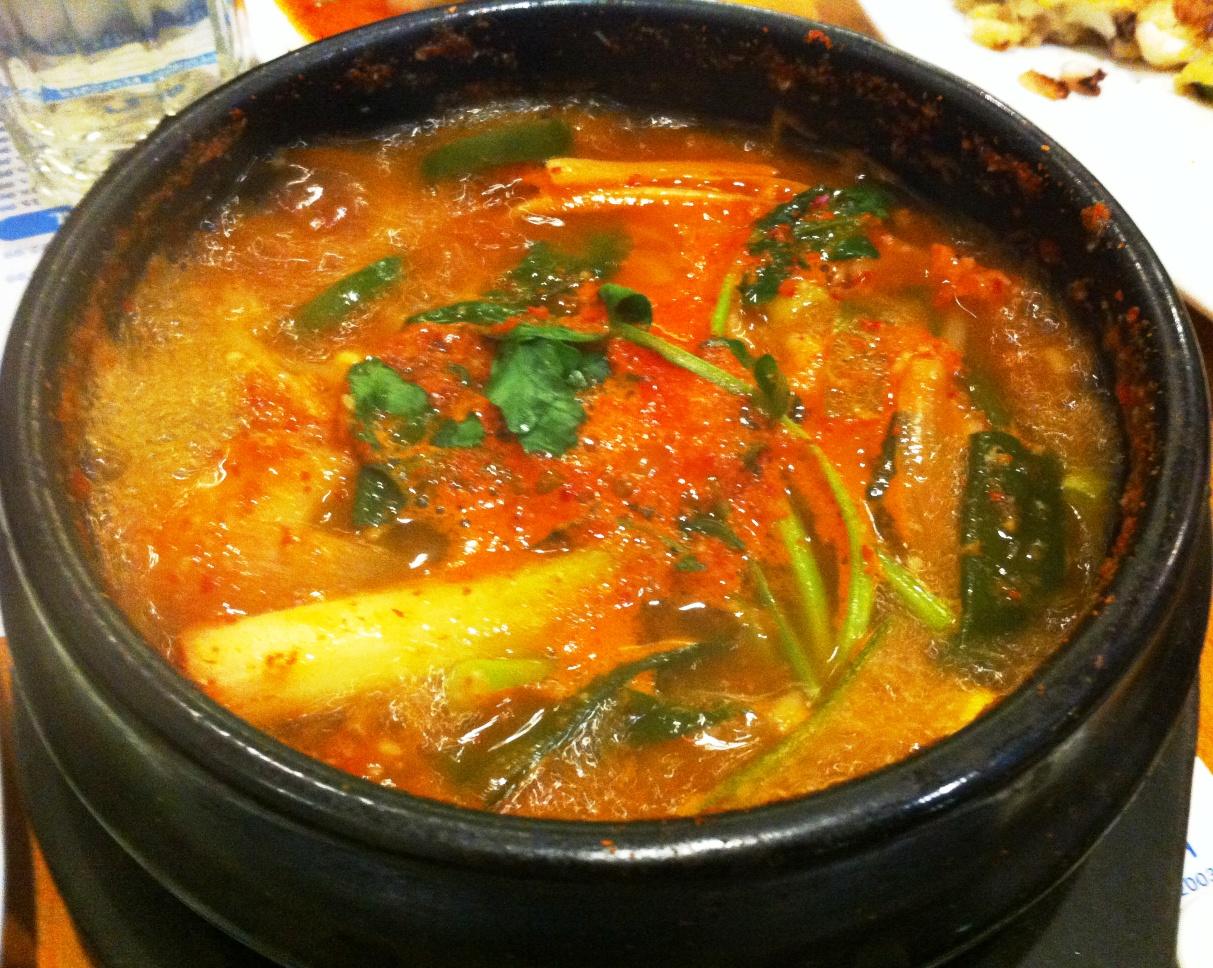 Wandering chopsticks dc ga bo ja restaurant for Spicy fish soup
