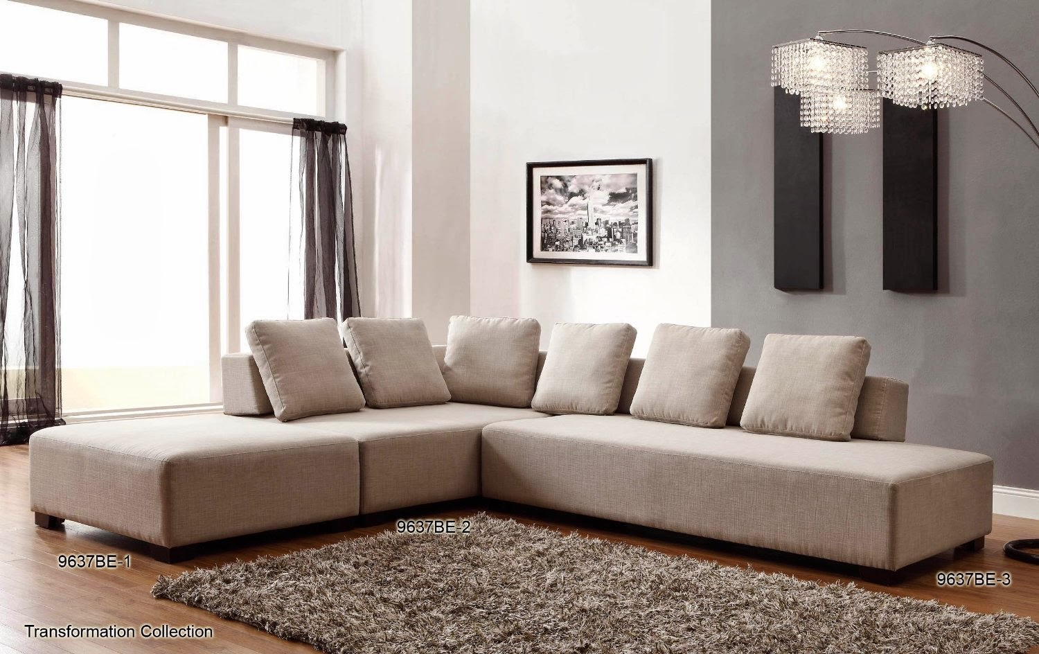 Homelegance Transformation Sofa Beige Linen Homelegance