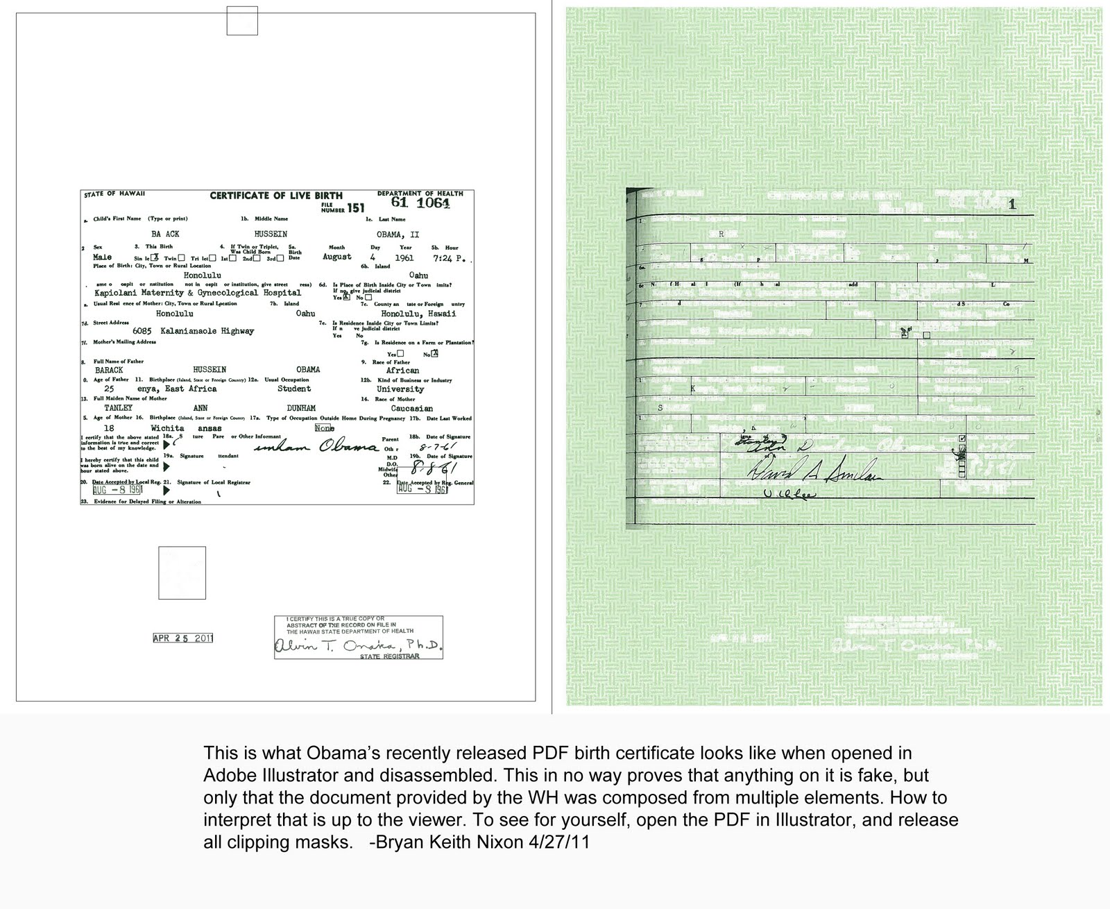 Blog smith obama real birth certificate released on april 22 obama requested the release of the long form birth certificate xflitez Image collections