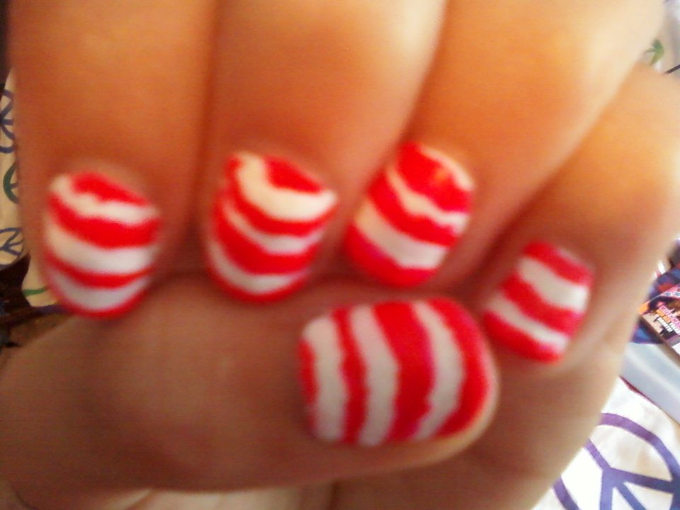Abby\'s Nail Designs: Neon Stripped Nails