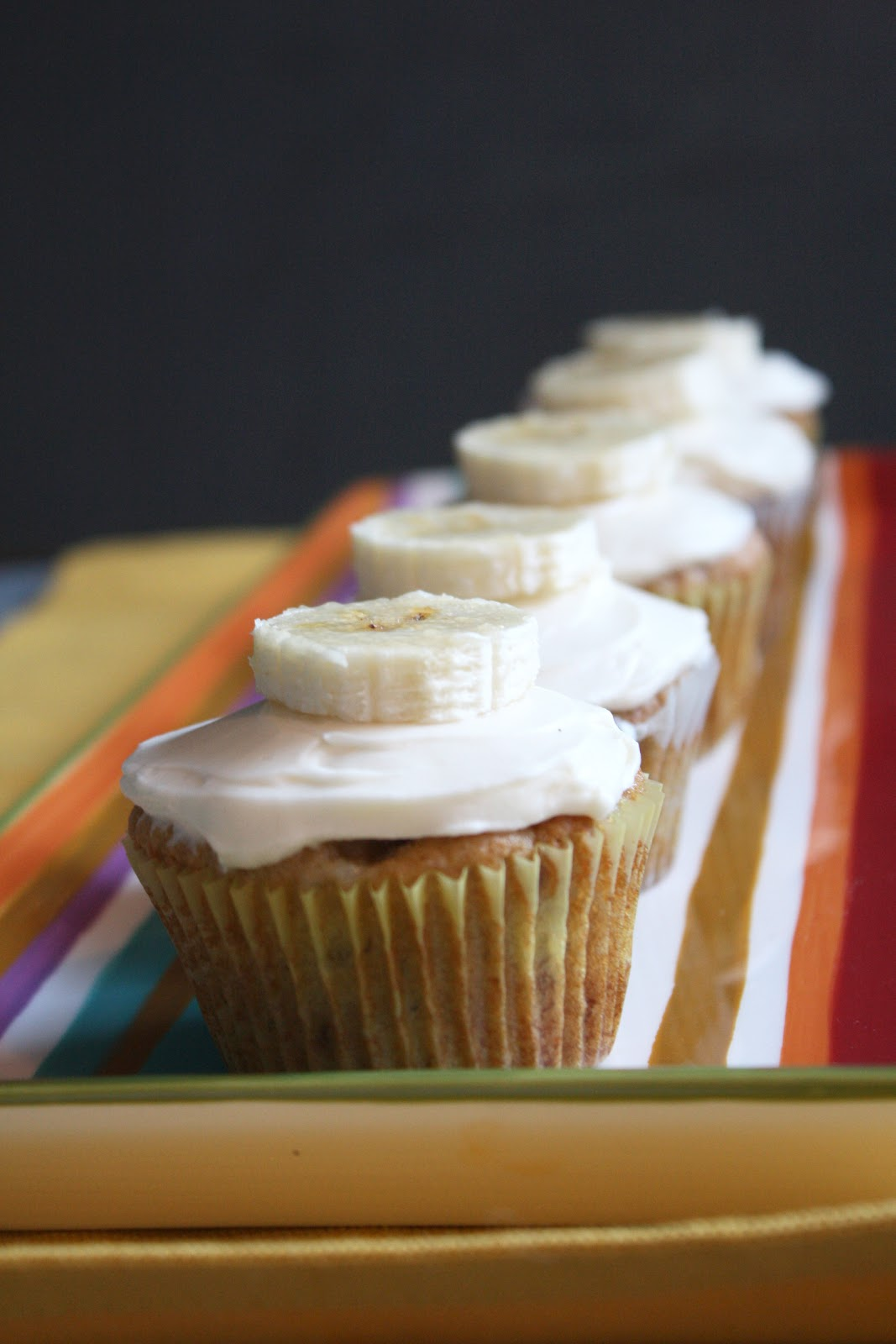 Chocolate Therapy: Banana Cupcakes with Cream Cheese Frosting