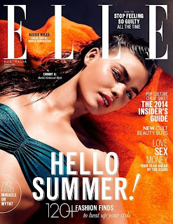 Magazine Cover : Bambi Northwood Blyth Magazine Photoshoot Pics on Elle Magazine Austrália Janeiro 2014 Issue