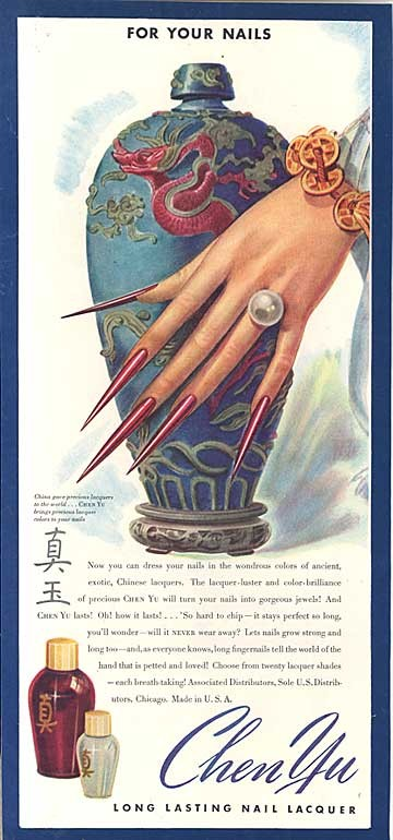 I know right the history of nail art in 600 bc china nail art became a symbol of wealth as well men and women grew their nails to five inches long to show that they didnt have to perform prinsesfo Images