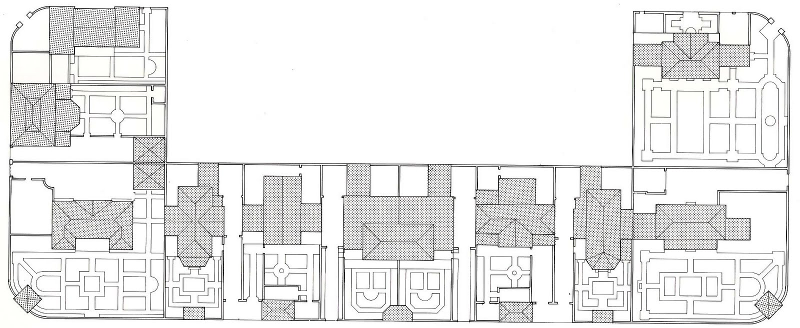 the devoted classicist july 2011 block plan of french city village coral gables florida from the original working drawings drawing mark alan hewitt from the architecture of mott b