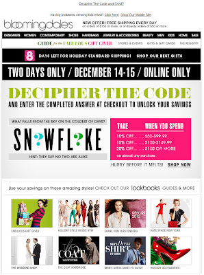 Click to view this Dec. 14, 2011 Bloomingdale's email full-sized