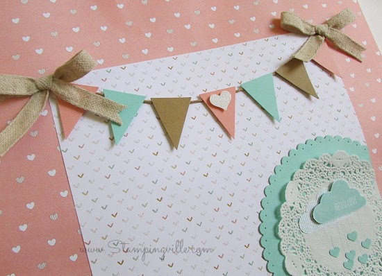 Baby Shower Keepsake Gift Bag (tiny banner) | Stampingville #papercrafts #babyshower #StampinUp