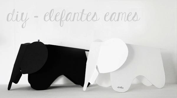 DIY - ELEFANTES EAMES DE PAPEL