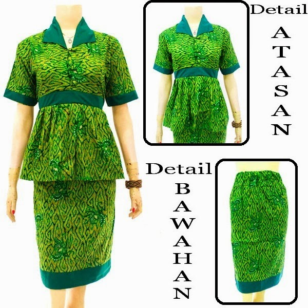 DB3833  Model Baju Dress Batik Modern Terbaru 2014
