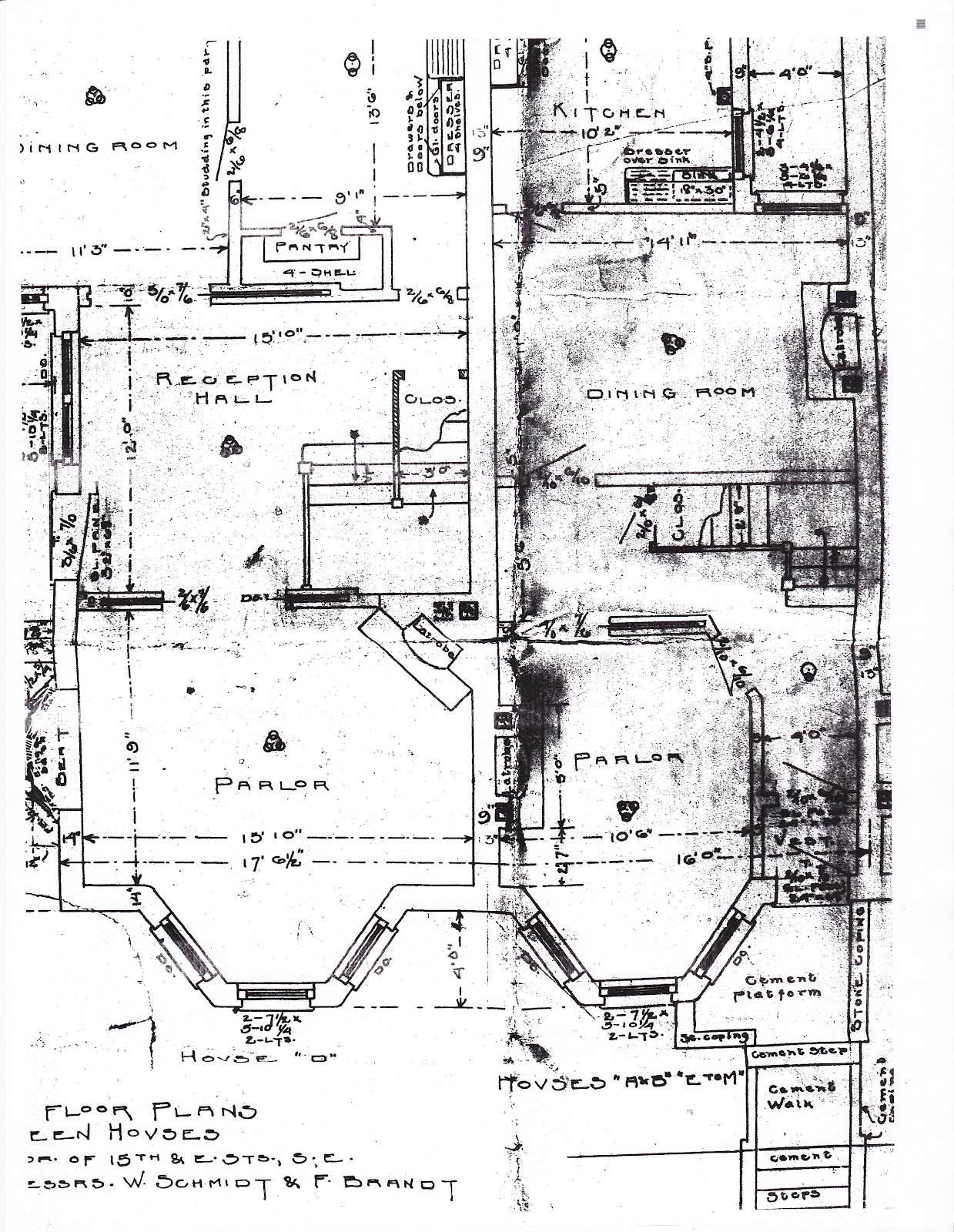 The house history man dc building permits the rare for Floor plans for building a house