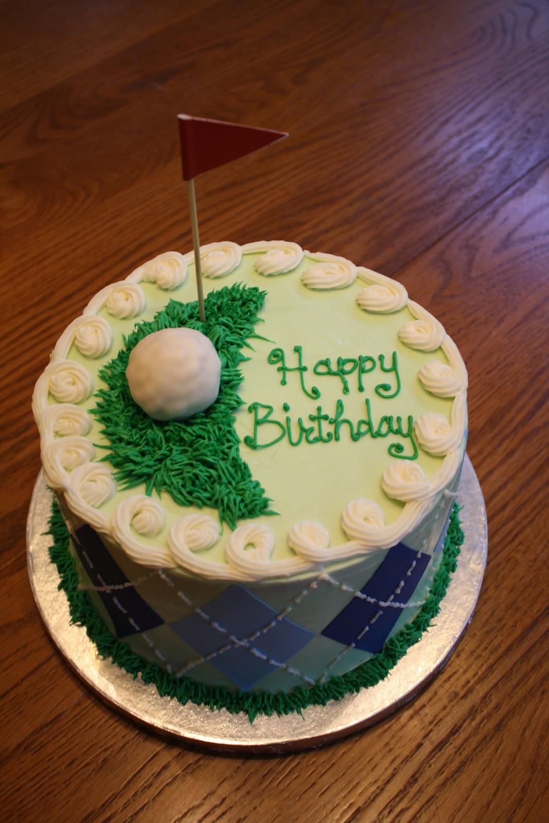 Cakes by Elizabeth June 2012 Golf Theme Birthday Cake