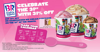 31% Off Baskin Robbins Ice Cream: 31st 2012