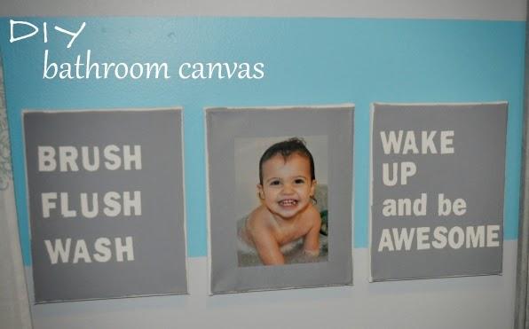 bathroom canvas