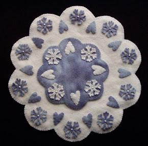 Hearts 'n Snowflakes Candle Mat