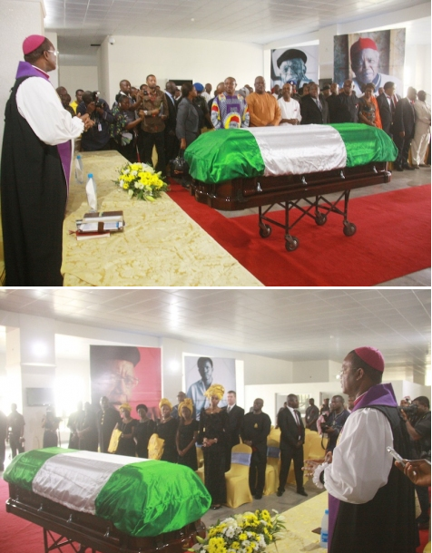 Chinua Achebe funeral pictures