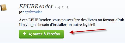 Ajouter epub reader à Firefox