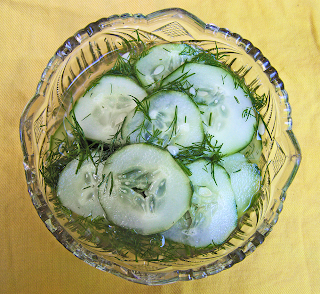 Cut Glass Bowl of Pickles