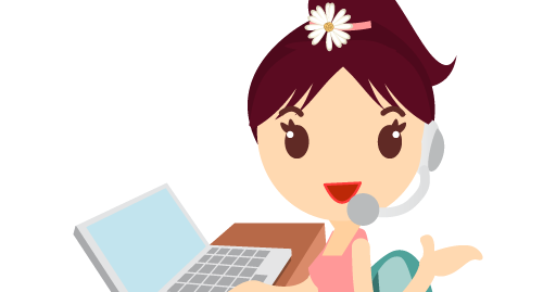 Callcenter Girls Flower Icon Png