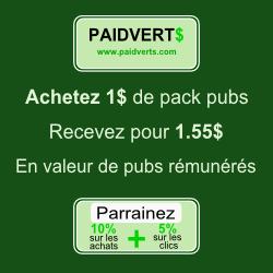 Rejoingnez PaidVerts Maintenant!
