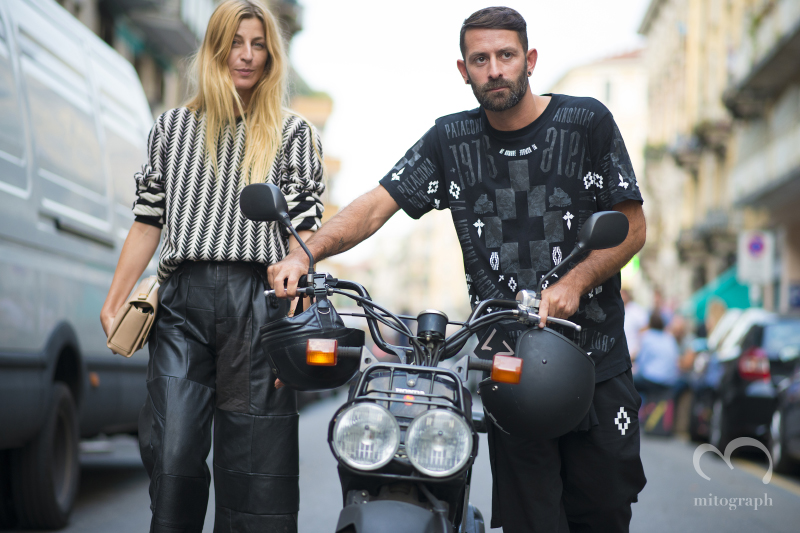 Ada Kokosar and Marcelo Burlon at Milan Fashion Week 2015 Spring Summer MFW
