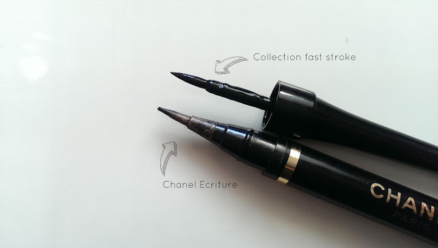 The tips/applicators of both liquid eyeliners