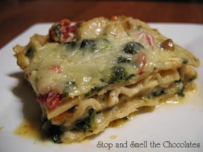 http://www.stopandsmellthechocolates.com/2012/01/chicken-caesar-lasagna.html