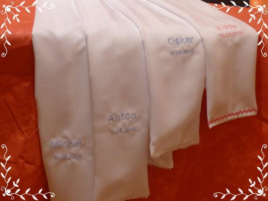 Tuch Taufe Tauftuch zu Taufkleid mit Aufbewahrungstasche Stickerei