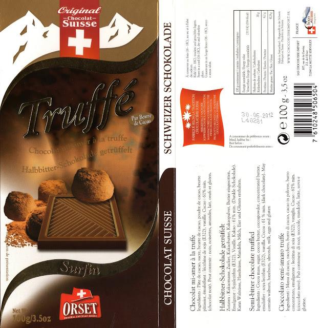 tablette de chocolat noir gourmand orset la route des alpes noir truffé