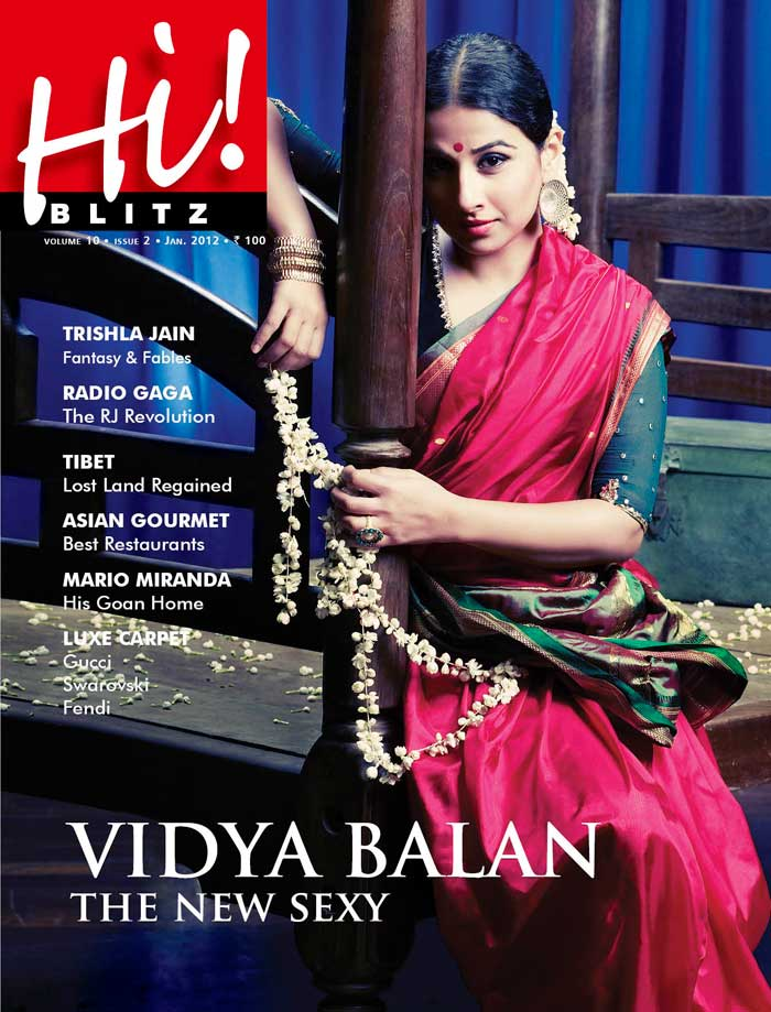 Vidya balan Hi Blitz Magazine Scan1 - Vidya balan Hi Blitz Jan 2012 Scans
